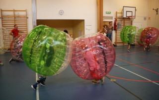 bubble football barnkalas